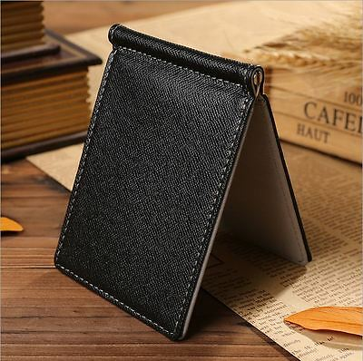 Business Mens Money Clip Thin Wallet  ID Credit Card Holder Case Soft PU Fasion
