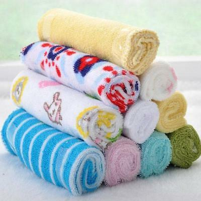 Soft Kids Baby Face Washers Hand Towels Cotton Wipe Wash Cloth 8pcs/Pack New LG