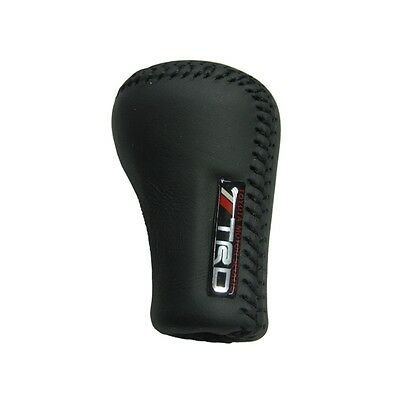 Hot  TRD Manual Leather Black/Red 5 Speed Gear Shift Knob Shifter For TOYOTA