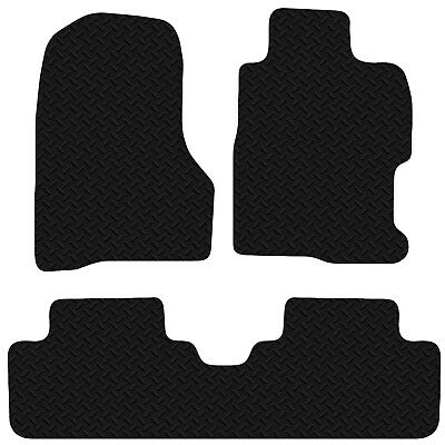 Honda Civic 2001 -2006 3DR EP3 Black Floor Rubber Tailored Car Mats 3mm 4pc Set