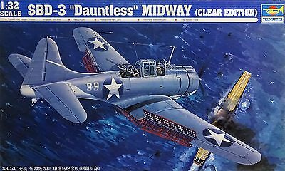 TRUMPETER® 02244 SBD-3 Dauntless Midway (Clear Edition) in 1:32