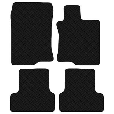 Honda Accord 2008 - Onwards Black Floor Rubber Tailored Car Mats 3mm 4pc Set