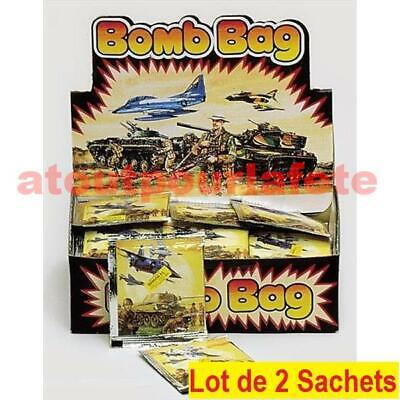 Lot de 2 sachets Bomb Bag,Farces et attrapes, blagues, gags (sachet explosif)