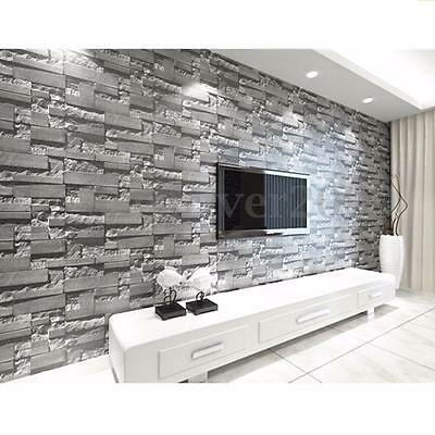3D Wallpaper Brick Pattern Textured TV Background Home Art Decor Wear-resistant