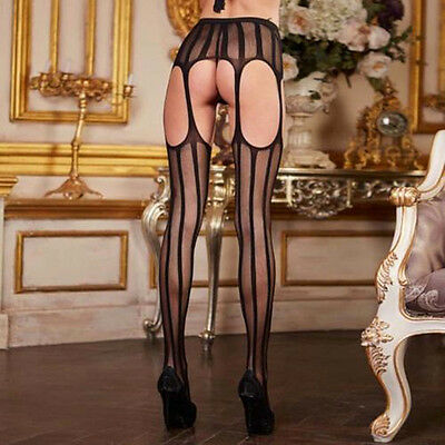 With Garter Belt Suspender Womens Sheer Sexy  Lace Top Thigh-Highs Stockings New