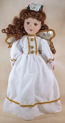The Doll House Collection Angel Porcelain Doll 16 Inch With Box and Stand