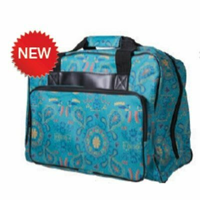 Janome Sewing Machine Tote in Green Paisley New