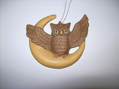"Bethany Lowe ""Owl on Moon"" Mini Halloween Ornament (TD4034)"