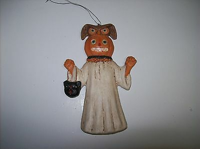 "Bethany Lowe ""Pumpkin Ghost"" Mini Halloween Ornament (TD4034)"