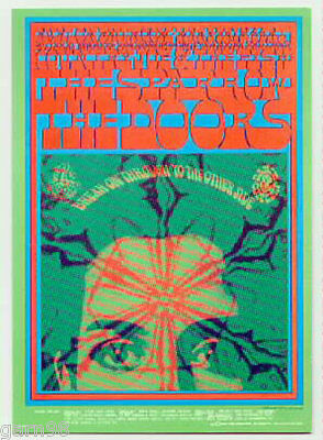 Doors Country Joe Sparrow Victor Moscoso Fillmore Era Handbill 1967