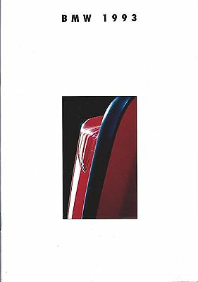 Auto Brochure - BMW - Product Line Overview - 1993 (A1024) - S