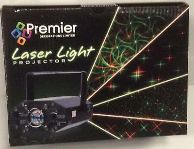 Christmas Laser Light Projector 13cm With 4 Light Designs Premier LV122906