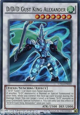 CT13-EN010 D/D/D Gust King Alexander Super Rare Limited Edition Mint YuGiOh Card