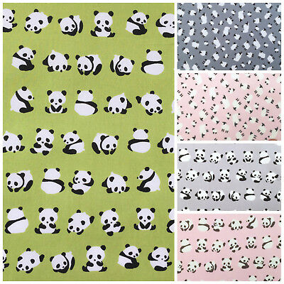 Panda & sheep 100% cotton fabrics per FQ/ half metre 112cm wide for sewing/craft