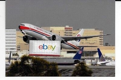 China Eastern Airlines Boeing 777-F6N Freighter Departing Lax Airport Postcard