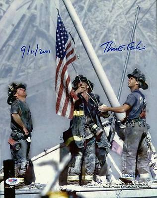 9/11 Photo - 3 Firefighters Raising Flag Signed By Thomas E. Franklin PSA/DNA