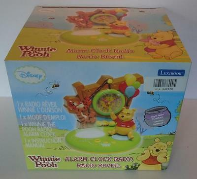 Lexibook WINNIE THE POOH Alarm Clock Radio with Night Light Function New in Box