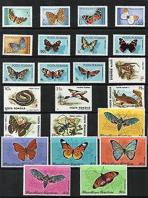 BUTTERFLIES Thematic STAMP Collection 1969-93 ROMANA 1970 TOGO-Mint REF: TH727