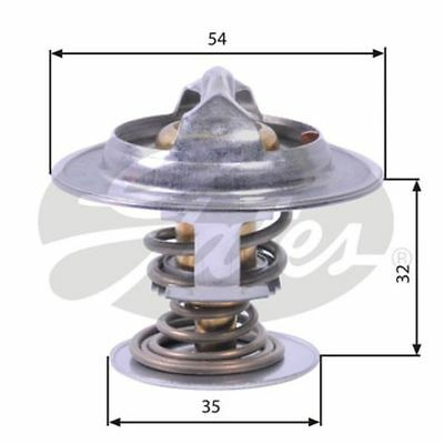 Gates Thermostat for RENAULT ESPACE 3.0 CHOICE1//2 dCi P9X Espace Grand Espace