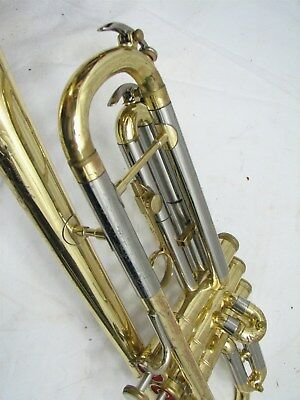 Vintage Conn Trumpet Shooting Stars Marching Band Musical Instrument w/Case 1971