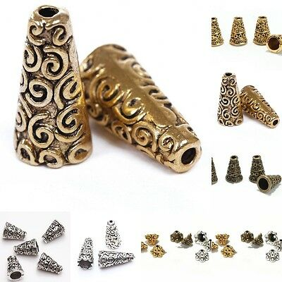 50Pc Tibetan Antique Silver Cone Bead Caps End Beads Jewelry Findings Making DIY