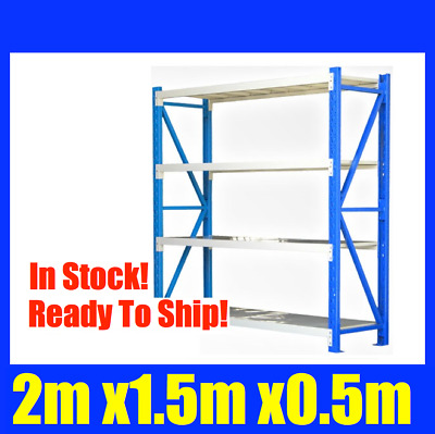2m X 1.5m Steel Metal GARAGE STORAGE WAREHOUSE SHELVING RACKING Shelves NEW 1.5