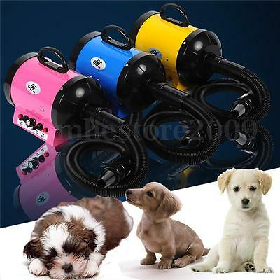 Dog Cat Pet Hair Grooming Dryer Blow Blaster Hairdryer Blower 2800W w/ 3 Nozzle