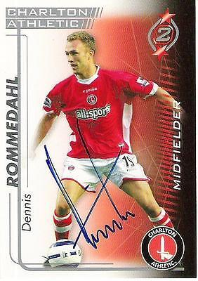 A Shoot Out card Dennis Rommedahl at Charlton Athletic Personally signed him (2)