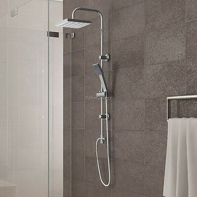 Thermostatic Twin Head Shower Mixer Chrome Bathroom Bath Exposed Valve Set