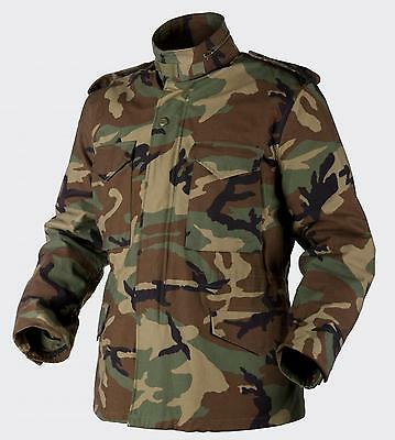 HELIKON TEX US M65 Jacke Army Military Field Outdoor Jacket woodland camouflage