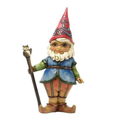 Jim Shore Heartwood Creek Honey I'm Gnome - Gnome With Walking Stick New 4037671