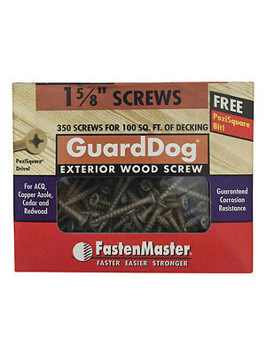"Guard Dog® 1-5/8"" Tan Exterior Deck Screw Pozi Drive (350 Pcs)"