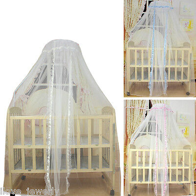 ILJ Universal Baby Kids Crib Mosquitoes Insect Net Door Type Court-shaped Dome