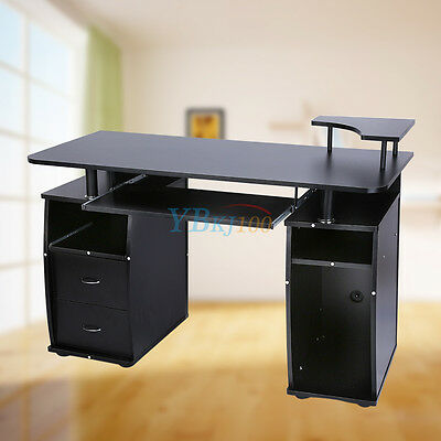 stilista designer computertisch schreibtisch b rotisch pc tisch glas schwarzglas eur 99 99. Black Bedroom Furniture Sets. Home Design Ideas