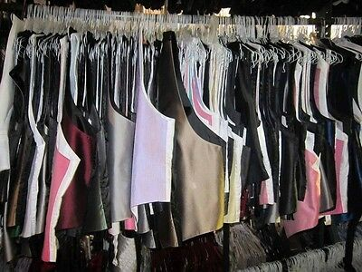 Lot of 20 Mens Large Fullback Vest CHEAP Discount Resell Wholesale Multicolored