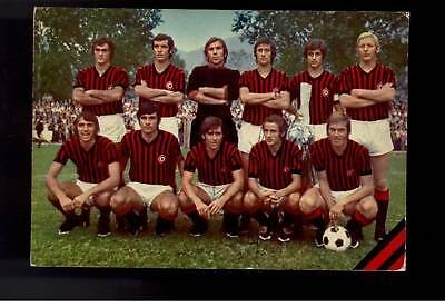 calcio football Cartolina Milan 1972/73 con rivera,chiarugi