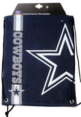 Forever Collectibles Dallas Cowboys Cropped Logo Drawstring Backpack Gymsack NFL