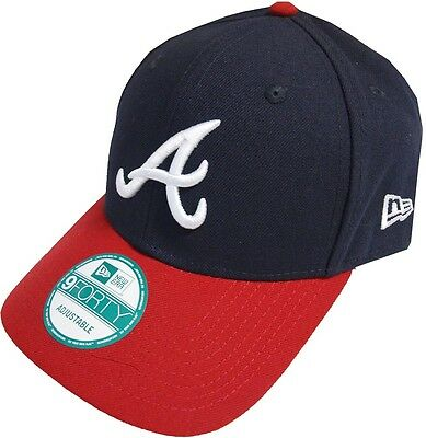 New Era Atlanta Braves The League Touch Fastener 9forty Caps Adjustable Navy Red
