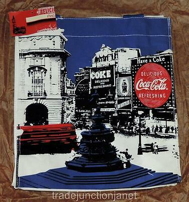 "NOS 2006 MCR COCA-COLA PARIS CANVAS TOTE BAG - 13""x12""x5"" - MADE IN USA - BEACH"