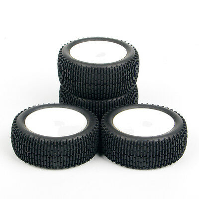4 Pcs 1:10 Off-Road 25024+27013 Front&Rear Tyre Tires Wheel Rim For Buggy Car RC