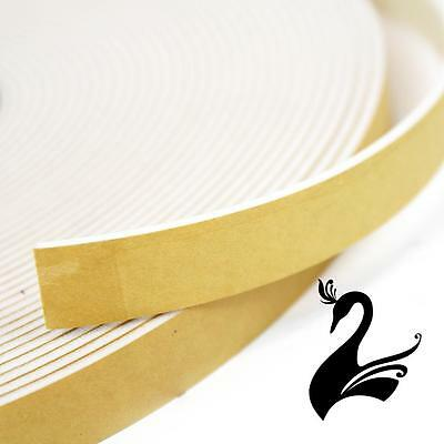 Foam Fascinator/Hat Size-Reducing Tape - Adhesive 20mm (Price per 1m) - White  -