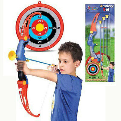 King Sport Archery Trainer Bow & Arrow Hunt Play Set + Target Suction Arrows Toy