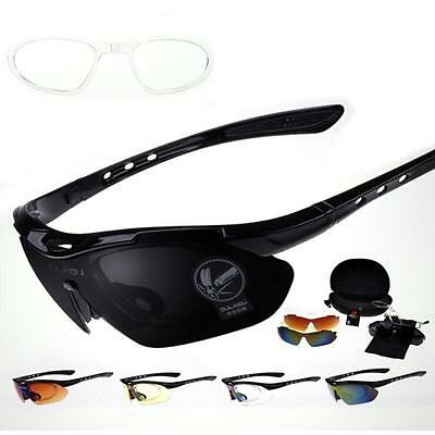 Pop New Cycling Bike Bicycle Sunglasses UV400 5 Lens Replacement Goggles Glasses