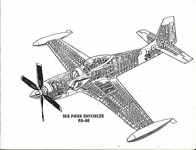 Brochure - Piper - Enforcer - Cutaway Style Drawing - Picture (B495)