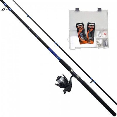 NEW Shakespeare Catch More Fish Kit - 8ft Rod Reel + Line Combo - SPIN - 1280395