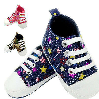 2017 Toddler Newborn Shoes Baby Infant Kids Boy Girl Soft Sole Canvas Sneaker