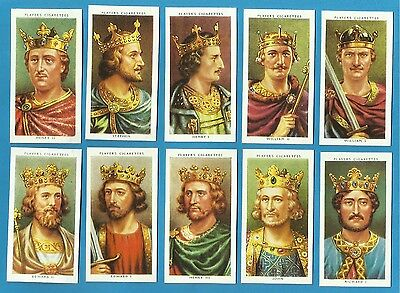 Players cigarette cards - KINGS & QUEENS OF ENGLAND - Full set.