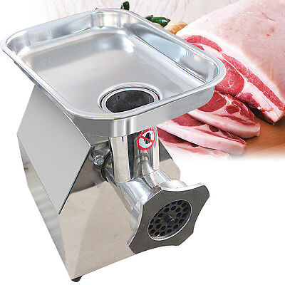 New Commercial Electric Meat Sauage Grinder Stainless Steel 220v Meat Grinders