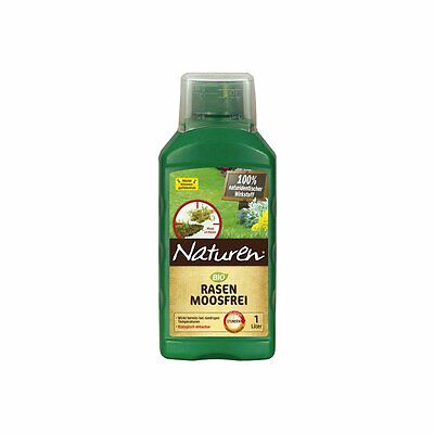 Naturen Organic Lawn Moss free - 1 Liter - Moss control Moos In The Lawn