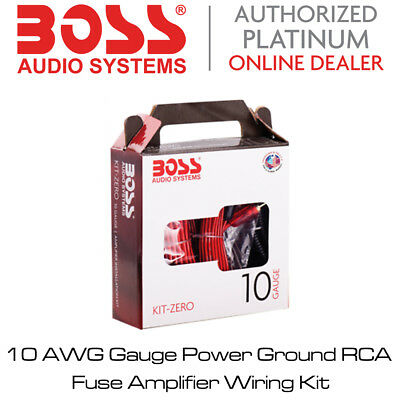 Boss Audio KIT-Z - 10 AWG Gauge Power Ground RCA Fuse Amplifier Wiring Kit